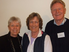Dr Christine Jones with Hugo and Helen