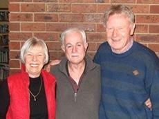 Hugh Lovel with Hugo and Helen