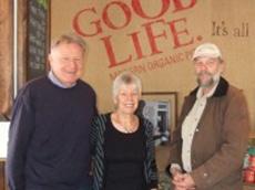 Tim Marshall with Hugo and Helen